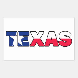 Texas-Aufkleber Rechteckiger Aufkleber