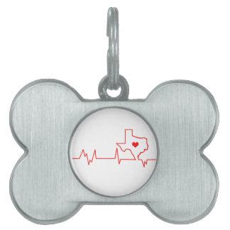 Texas-Herzschlag Tiermarke