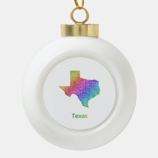 Texas Keramik Kugel-Ornament