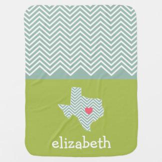 Texas-Liebe mit kundenspezifischem Herz-und Kinderwagendecke
