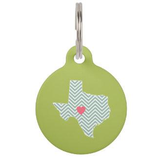 Texas-Liebe mit kundenspezifischem Herz-und Tiernamensmarke