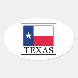 Texas Ovaler Aufkleber