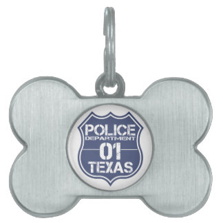 Texas-Polizeidienststelle-Schild 01 Tiermarke