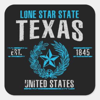 Texas Quadratischer Aufkleber