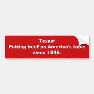 Texas: Setzen des Rindfleisches auf Amerikas Autoaufkleber