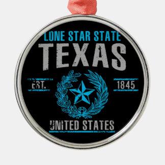 Texas Silbernes Ornament