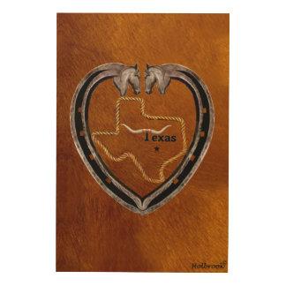 Texas-Stolz Holzleinwand