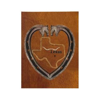 Texas-Stolz Holzposter