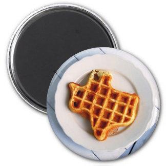 Texas-Waffel Runder Magnet 5,7 Cm