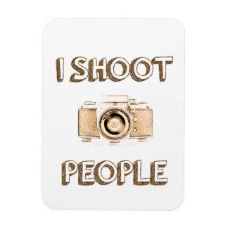 Text-Foto-Kameraphotograph der Triebleute lustiger Magnet