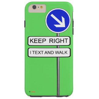 Text-Weg Tough iPhone 6 Plus Hülle