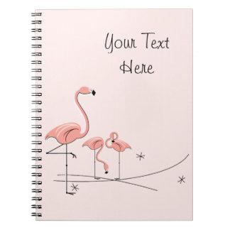 Textnotizbuch des Flamingo-rosa Trio-4 Notiz Buch