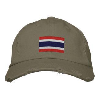 Thailand Flagge gestickte Chino-Twillkappe Bestickte Caps