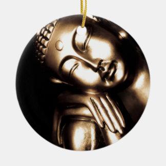 Thailändische Buddha-Klugheit Rundes Keramik Ornament