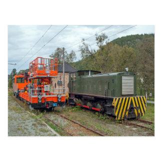 Thamshavnbanen, Bahnmaschine und das Ruston Postkarte