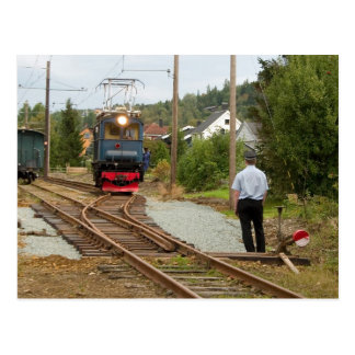 Thamshavnbanen, Norwegen. Zurückstellende Zeit Postkarte