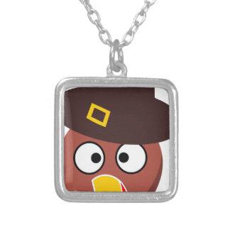 thanksgiving_turkey_pilgrim_hat2 versilberte kette