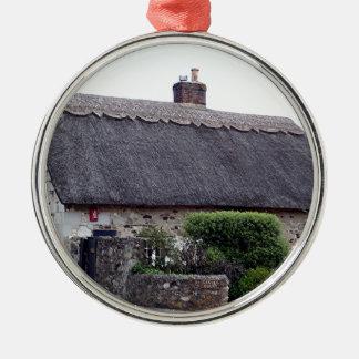 Thatched Hütte, Vereinigtes Königreich 6 Rundes Silberfarbenes Ornament