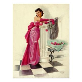 The Pink Dress Postkarte