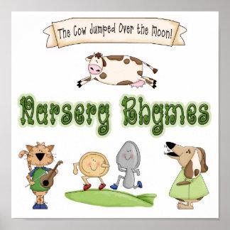 Thema-Kinderzimmer-Reim-Tier-Kunst-Druck-Plakat Poster