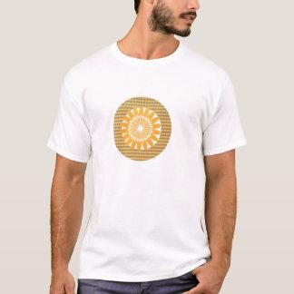 Thema-Sonnenblume und Goldstar T-Shirt