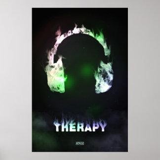 Therapie-Rauch u. Musik Poster