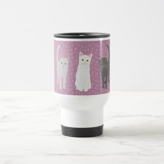 Thermotasse Katzen dreifarbig Reisebecher