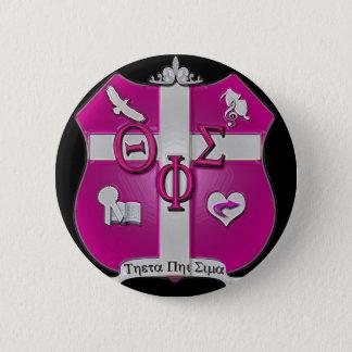 Thetaphi-Sigmaschild Runder Button 5,1 Cm