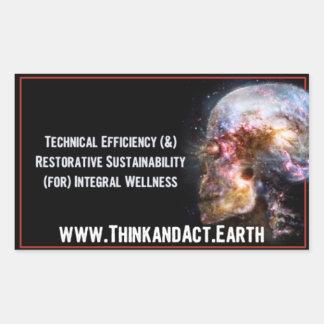 """ThinkandAct.Earth """"Funthreementals """" Rechteckiger Aufkleber"""