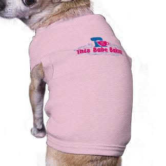 ThisBabeBakes Hündchen-gewelltes Trägershirt Ärmelfreies Hunde-Shirt