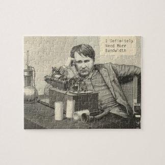 Thomas Alva Edison benötigt Bandbreite Puzzle