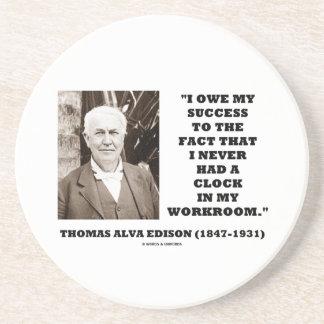 Thomas Alva Edison schulden Erfolg hatte nie Untersetzer