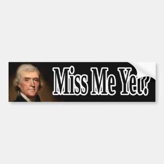 Thomas Jefferson, Fräulein Me schon? Autoaufkleber