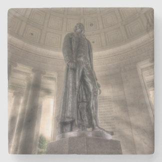 Thomas Jeffersonerinnerungsbronzestatue Steinuntersetzer