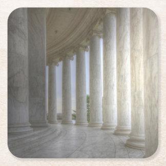 Thomas Jeffersonerinnerungskreiskolonnade Rechteckiger Pappuntersetzer