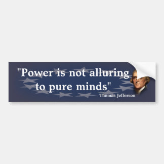 Thomas- Jeffersonzitat auf reinem Verstand Autoaufkleber