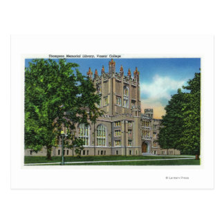 Thompsonerinnerungsbibliothek, Vassar Uni Postkarte