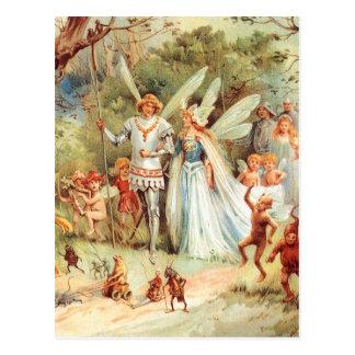 Thumbelinas Hochzeit im Wald Postkarten