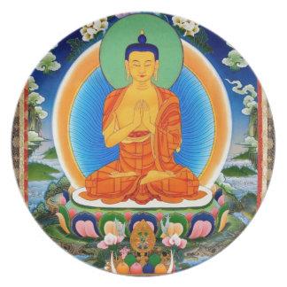 Tibetaner Thangka Prabhutaratna Buddha Teller