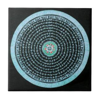 Tibetanische Mandala-Fliese Kleine Quadratische Fliese
