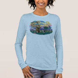Tibetanischer Spaniel (Tri Farbe) Langarm T-Shirt