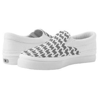 Tibetanisches Spaniel-Silhouette-Muster Slip-On Sneaker