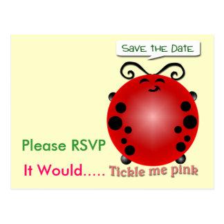 Tickle mich rosa postkarte