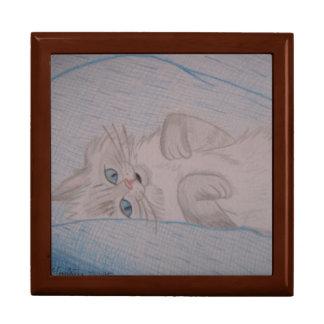 Tickled Katze Große Quadratische Schatulle
