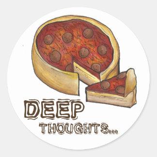 Tiefe Gedanken-tiefe Runder Aufkleber