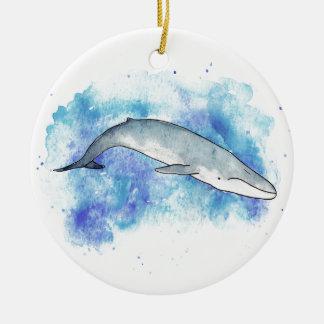 Tiefer Blauwal Rundes Keramik Ornament