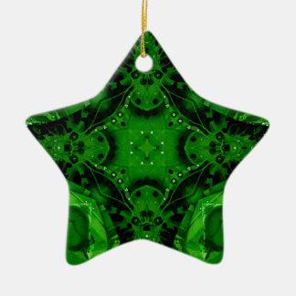 Tiefer Smaragdgrün-kreuzförmiger Entwurf Keramik Stern-Ornament