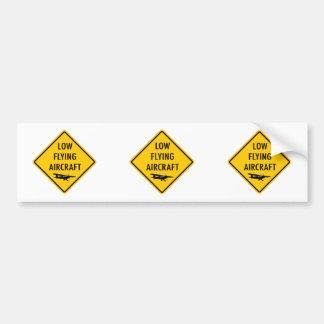 Tiefflug-Flugzeuge - Verkehrszeichen Autoaufkleber