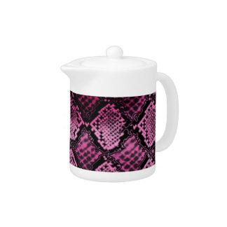 Tiefrosa Snakeskin Muster-Keramik-Waren