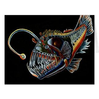 Tiefsee-Angler-Fische alle occations Grußkarte